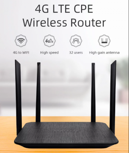 CPE 4G LTE WiFi Hotspot Router 2.4G 300Mbps 4 High Gain Antennas Band Wireless Router with sim card slot LT210F Shop