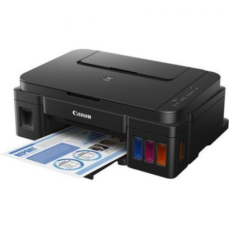 Canon Pixma G4411 Colour Inkjet Printer is a Smart, productive Wi-Fi 4-in-one printer for low-cost printing. Enjoy high volume, high quality, low-cost home printing using this powerful compact Wi-Fi refillable 4-in-one with print, copy, scan and fax functions, high page yield, easy smart device, and cloud connectivity and a 20 sheet ADF.
