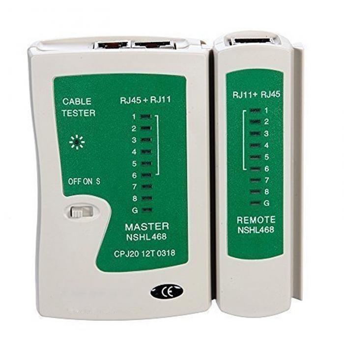Network Cable Tester 60V RJ45 RJ11 RJ12 Cat5 Cat6 UTP Phone LAN Wire Automatic Test Tool